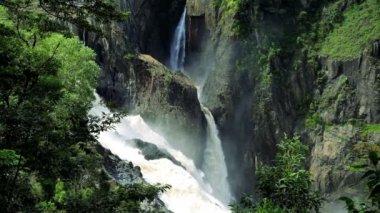 Majestic Barron Falls — Stock Video