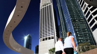 Riparian Plaza Brisbane business district — Vídeo de Stock