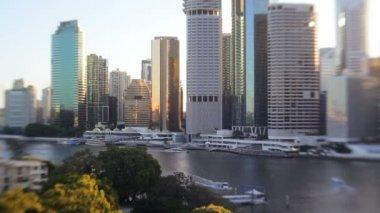 Brisbane  city skyline — Stock Video