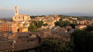 Elevated view over Perugia — Stock Video