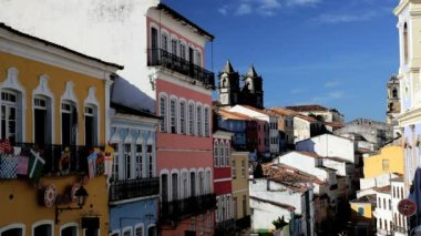 Historical center of Pelourinho — Stock Video