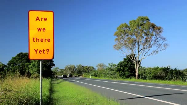 Road sign in anticipation — Vidéo