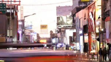 Time lapse day to night view Brigade Road — Stock Video