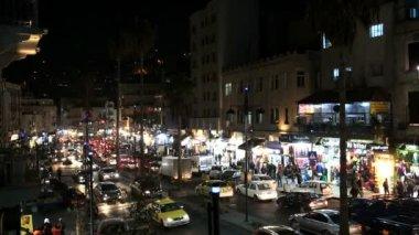 Night illuminated view of Amman — Stock Video