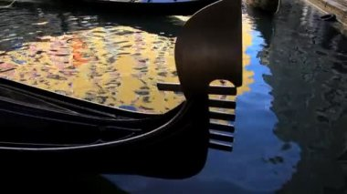 Gondolas on the Canals of Venice, Italy — Stock Video