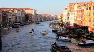 Gondolas in Lagoon, Venice — Stock Video