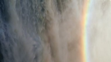 Victoria Falls Zimbabwe Africa Waterfall rainbow Zambezi River — Stock Video