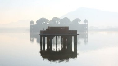 Rajasthan Jaipur India Jal Mahal Water Palace lake — Stock Video