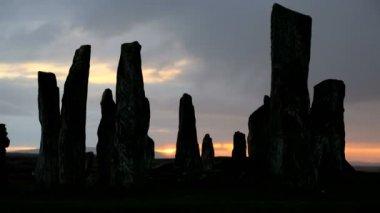 Isle Lewis Outer Hebrides Callanish Standing Stones Scotland UK — Stock Video