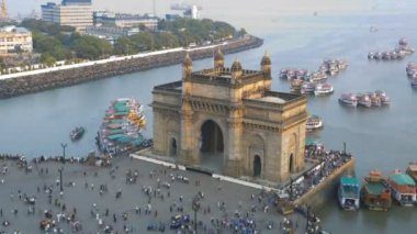 Mumbai time lapse Gateway India Maharashtra India — Stock Video