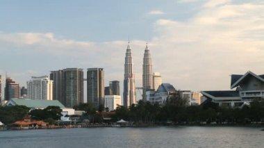 Petronas Towers Malaysia Asia city building travel — Stock Video