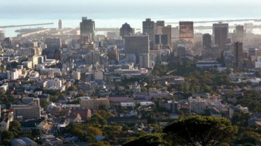 South Africa Cape Town Western Cape Financial District — Stock Video