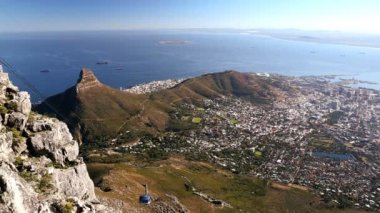 South Africa Cape Town Table Mountain Cable Car — Stock Video