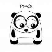 Funny panda cartoon — Stock Vector