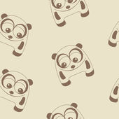 Funny panda pattern — Stock Vector