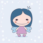 Fanny cartoon winter fairy — Vecteur