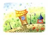 Fairy tale illustration — Stock Photo