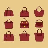 Hand drawn  handbags. — Stock Vector