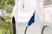 Charging an electric car — Stock Photo