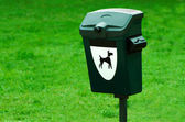 Dog waste container — Stock Photo