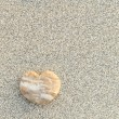 Heart shaped pebble on the beach — Stock Photo #60952407