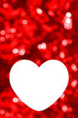 Blank of greeting card with red bokeh background — Zdjęcie stockowe