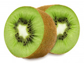 Juicy kiwi sliced to two sections — Stock Photo