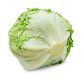 Fresh iceberg lettuce isolated on a white background — Stock Photo