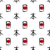 "The word ""Japan"" written hieroglyphs and red sun — Stock Vector"