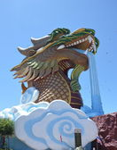 Dragon spurting water — Stock Photo