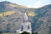 Under construction Buddha on the mountain — Foto Stock