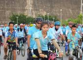 Bike for mom event in Thailand — Stock Photo