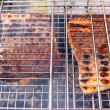 Grilled salmon ready, back side with crispy crust — Stock Photo #59623291