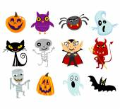 Halloween costumes — Stock Vector
