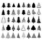 Christmas trees. — Stock Vector
