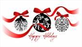 Greeting card with Christmas balls — Stock Vector