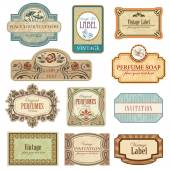 Ornate vintage labels — Stock Vector