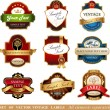 Collection of ornate labels — Stock Vector #60601089