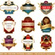 Collection of ornate labels — Stock Vector #60601811