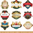 Collection of ornate labels — Stock Vector #60601859