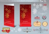 Colecta de navidad decoración — Vector de stock