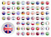 Round icons with flags. — Stock Vector