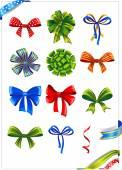 Gift bows set — Stock Vector