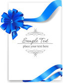 Blue bow with ribbons — Stock Vector