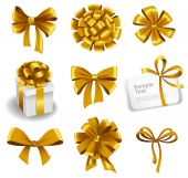 Set of gift bows — Vettoriale Stock