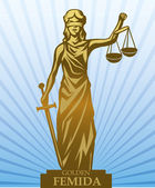 Femida, lady justice — Stock Vector