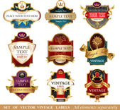 Collection of ornate labels — Stock Vector