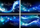 Wavy holiday backgrounds — Vector de stock