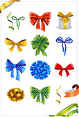 Gift bows set — Stock Vector