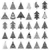 Christmas trees set — Vector de stock